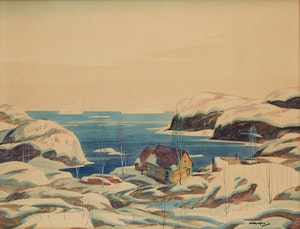 Artwork by Graham Noble Norwell, Cottage on the Shore