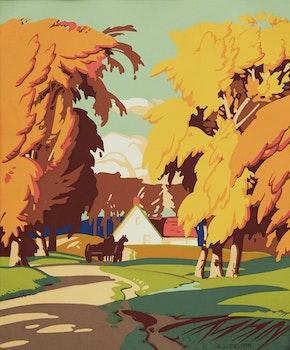 Artwork by Alfred Joseph Casson, Autumn Landscape