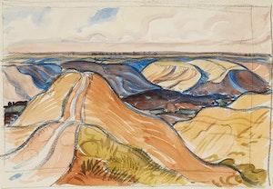 Artwork by Henry George Glyde, Badlands Landscape