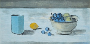 Artwork by Stanley Morel Cosgrove, Still-life with Cup, Fruit Bowl, and Lemon