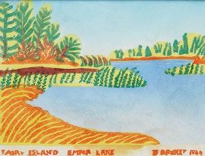 Artwork by Stanley Brunst, Fairy Island, Emma Lake