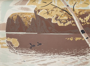 Artwork by Charles Fraser Comfort, Bon Echo