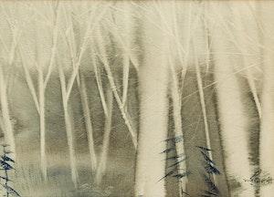Artwork by Marjorie Pigott, Forest Scene; Forest Interior