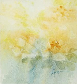 Artwork by Marjorie Pigott, Pink Beauty; Yellow Roses
