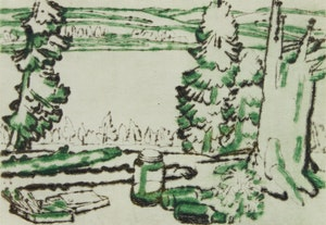 Artwork by David Brown Milne, Painting Place (Colophon Edition)