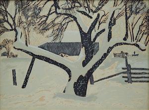 Artwork by Thoreau MacDonald, The Snow-storm