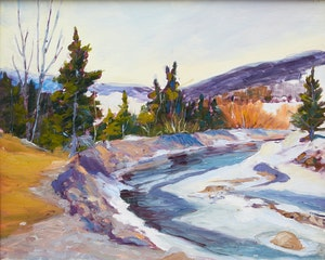 Artwork by  20th Century Canadian School, Méandre de rivière près de St-Malachie