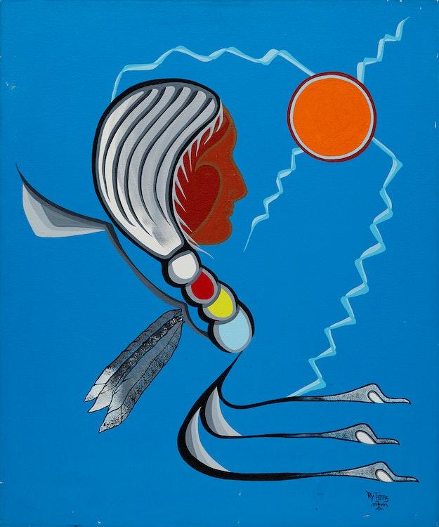 Artwork by Roy Thomas,  Elder of Native People