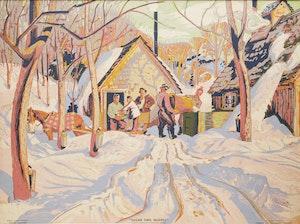 Artwork by Albert Edward Cloutier, Sugar Time, Quebec