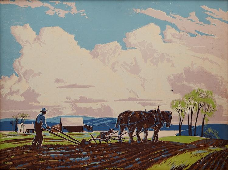 Artwork by Joseph Sidney Hallam,  The Plowman