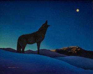 Artwork by Lloyd Fitzgerald, Beginning of Night (The Wolf)