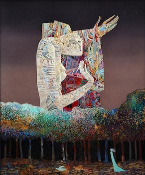 Artwork by Jesus Carlos De Vilallonga, Présage dans une promenade sauvage