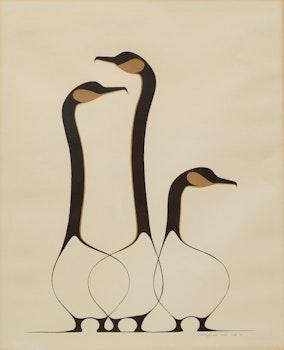 Artwork by Benjamin  Chee Chee, Three Geese