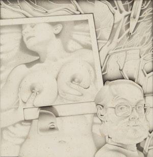 Artwork by Bernard Rene Joseph Mulaire, Untitled (Self-Portrait & Nude)