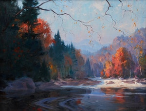 Artwork by Eric Riordon, Fall Landscape