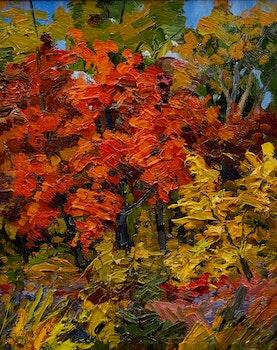 Artwork by Armand Tatossian, Gloire d'automne