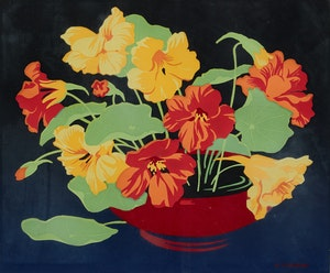 Artwork by Alfred Joseph Casson, Yellow and Orange Nasturtiums