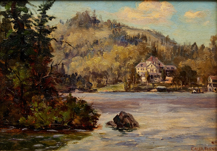 Artwork by Caleb Keene,  Cottage on the Lake
