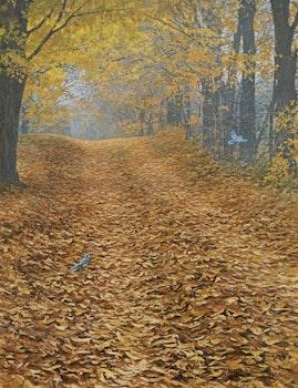 Artwork by Robert Bateman, Farm Lane and Blue Jays