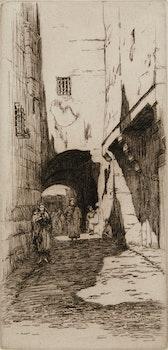 Artwork by Caroline Helena Armington, Rue De L'Arc Constantine; La Rue St. Romain A Rouen