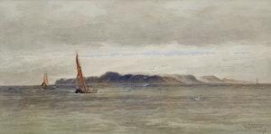 Artwork by Frederick Arthur Verner, Coastal Scene