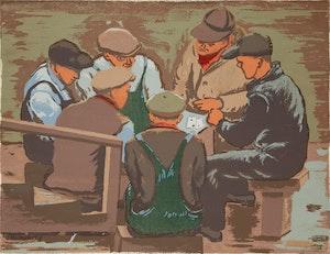 Artwork by Jack Weldon Humphrey, Card Players