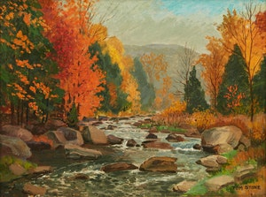 Artwork by Thomas Albert Stone, Autumn on the Credit River