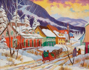Artwork by Claude Langevin, Quebec Landscape