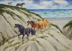 Artwork by John Douglas Lawley, Sable Island