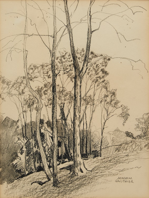 Artwork by Joachim George Gauthier,  A Clump of Trees