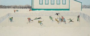 Artwork by William Kurelek, Breakaway