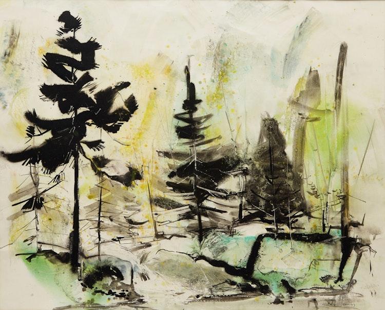 Artwork by Frank Leonard Brooks,  Landscape with Trees