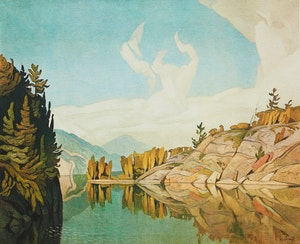 Artwork by Alfred Joseph Casson, Morning on the Key River; Late Flurry; Approaching Thunderstorm