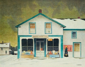 Artwork by Alfred Joseph Casson, Annables General Store; Village House; Crescendo