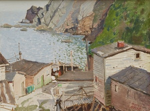 Artwork by George Franklin Arbuckle, Caplin Cove, Newfoundland
