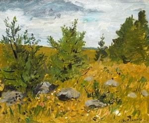 Artwork by William Goodridge Roberts, Rocky Field Laurentians