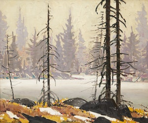 Artwork by Robert Genn, At Wells Lake, Caribou B.C.