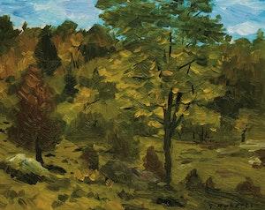 Artwork by William Goodridge Roberts, Trees, Laurentians