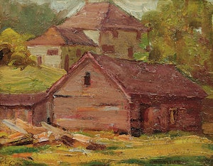 Artwork by John William Beatty, Rural Houses