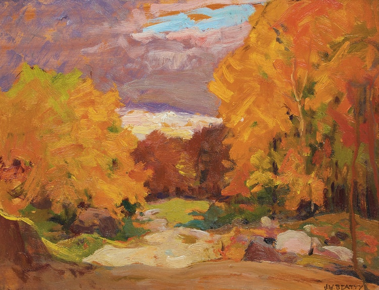 Artwork by John William Beatty,  Fall Colours