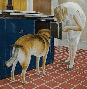 Artwork by David Alexander Colville, Stove