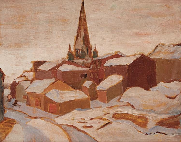 Artwork by Frederick Grant Banting,  Bic, Quebec