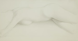 Artwork by Christopher Pratt, Girl on my Couch
