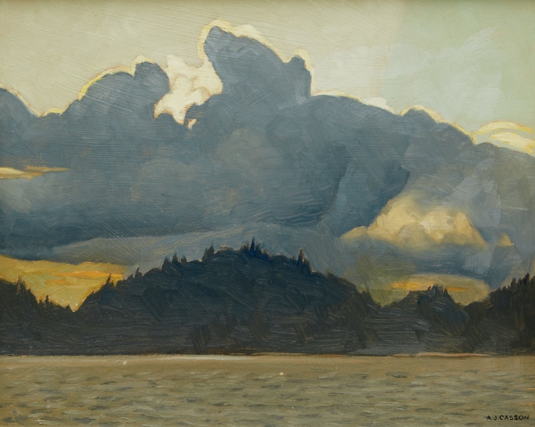 Artwork by Alfred Joseph Casson,  Sundown - Lake Rosseau