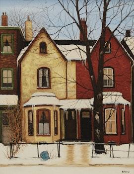 Artwork by John Kasyn, Off Eastern Avenue, Toronto