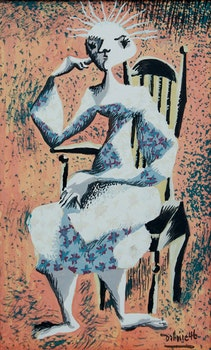 Artwork by Jean-Philippe Dallaire, Femme assise