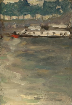 Artwork by James Wilson Morrice, Boat at Charenton