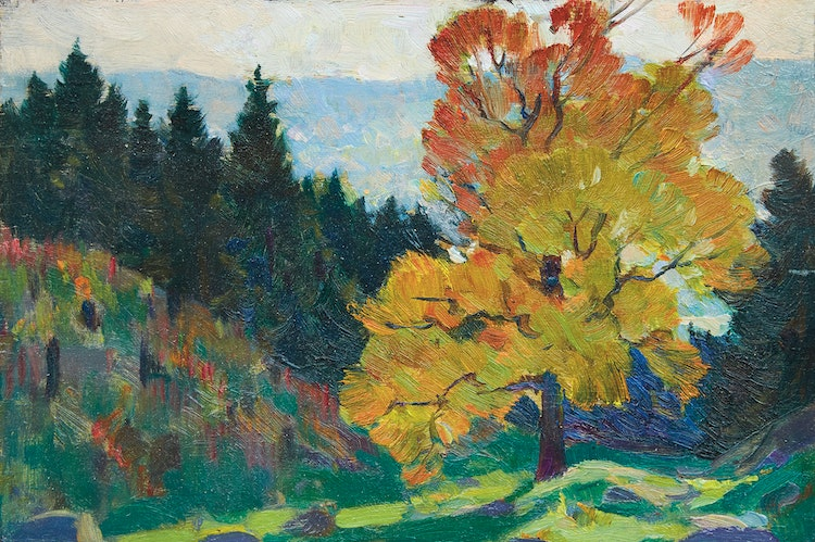 Artwork by Clarence Alphonse Gagnon,  Baie St. Paul