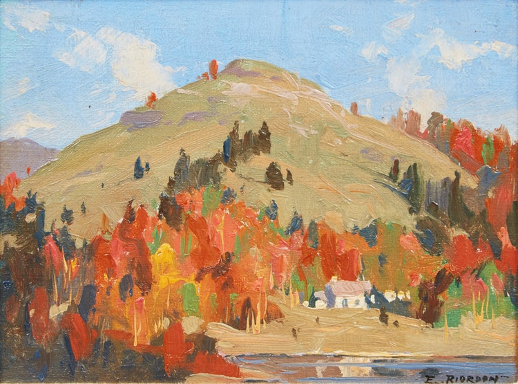 Artwork by Eric Riordon,  Sunny Autumn, Laurentians