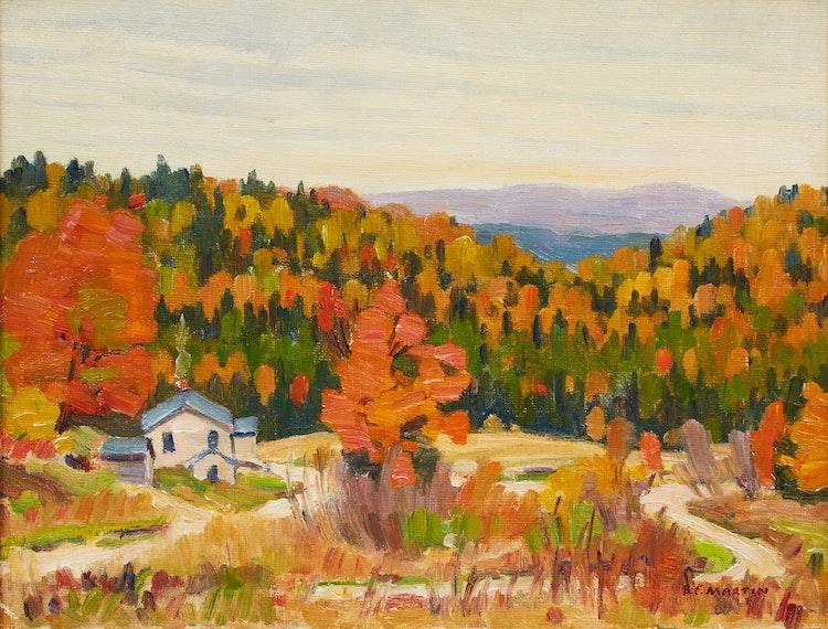 Artwork by Bernice Fenwick Martin,  Autumn Landscape